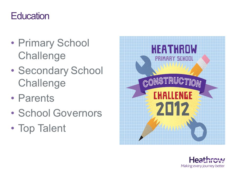 Education Primary School Challenge Secondary School Challenge Parents School Governors Top Talent