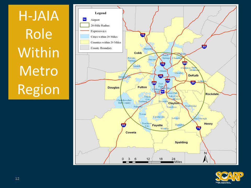 H-JAIA Role Within Metro Region 12