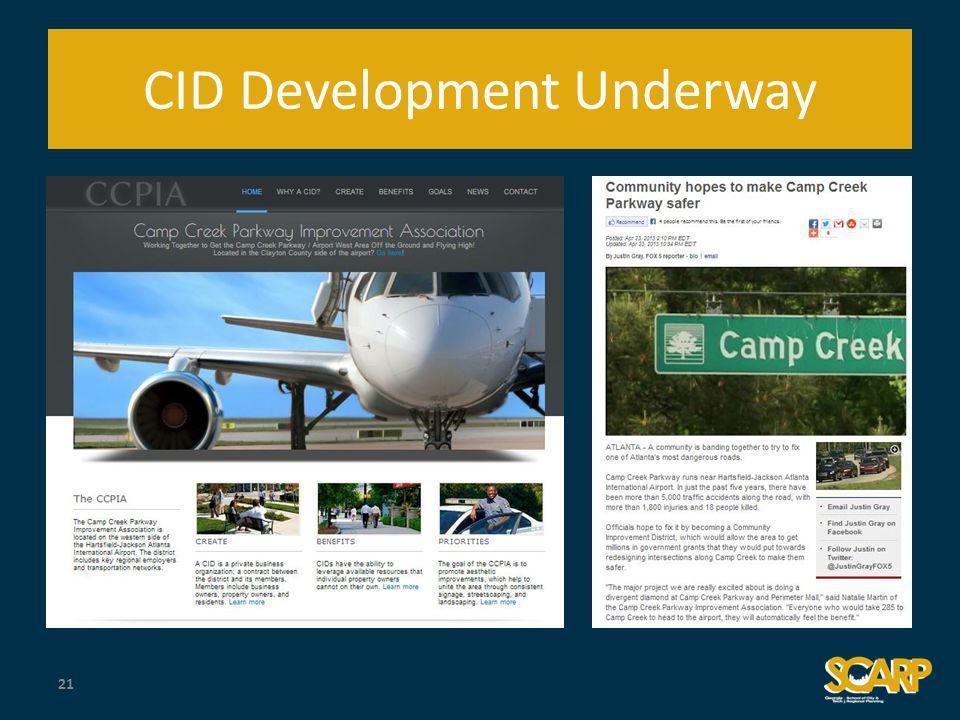 CID Development Underway 21