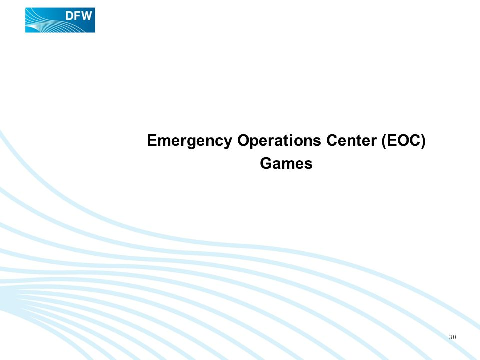 Emergency Operations Center (EOC) Games 30