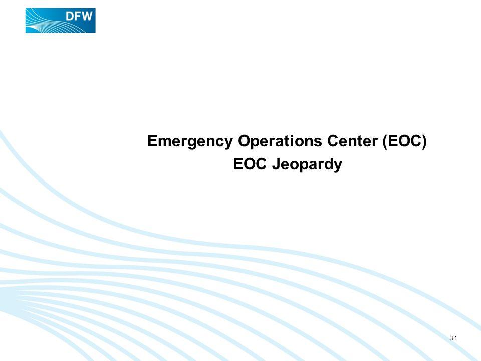 Emergency Operations Center (EOC) EOC Jeopardy 31