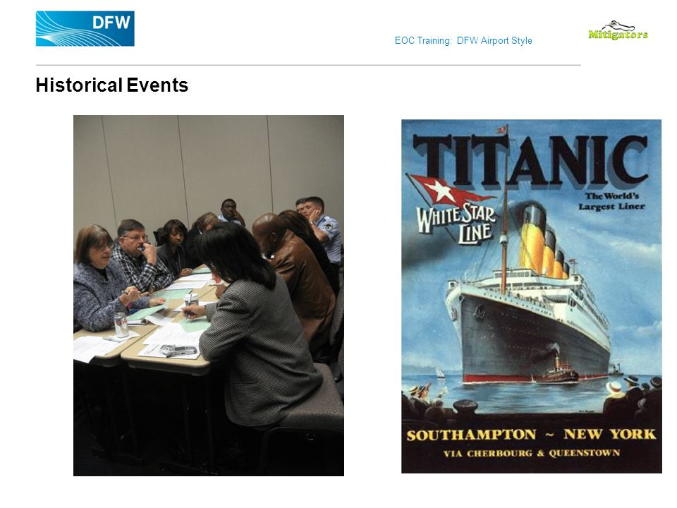 EOC Training: DFW Airport Style Historical Events