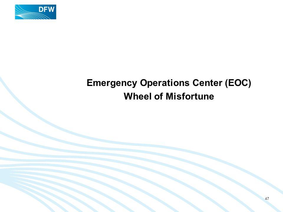Emergency Operations Center (EOC) Wheel of Misfortune 47