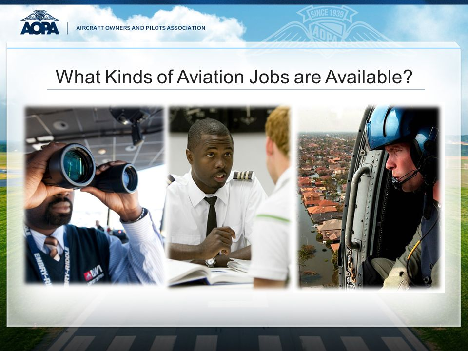 What Kinds of Aviation Jobs are Available?
