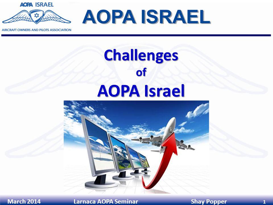 March 2014 Larnaca AOPA Seminar Shay Popper 1 Challengesof AOPA Israel