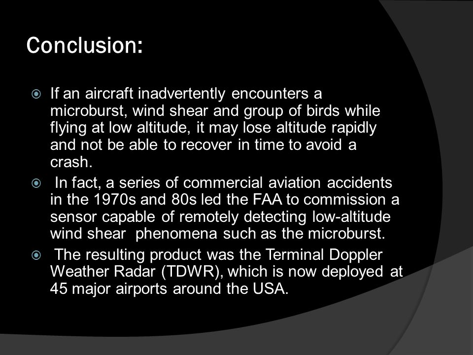 Difference B/W TDWR &LLWAS In 1993 LLWAS is replaced by TDWR Both tells about wind shear TDWR is more advance then LLWAS LLWAS is not installed in Europe now.