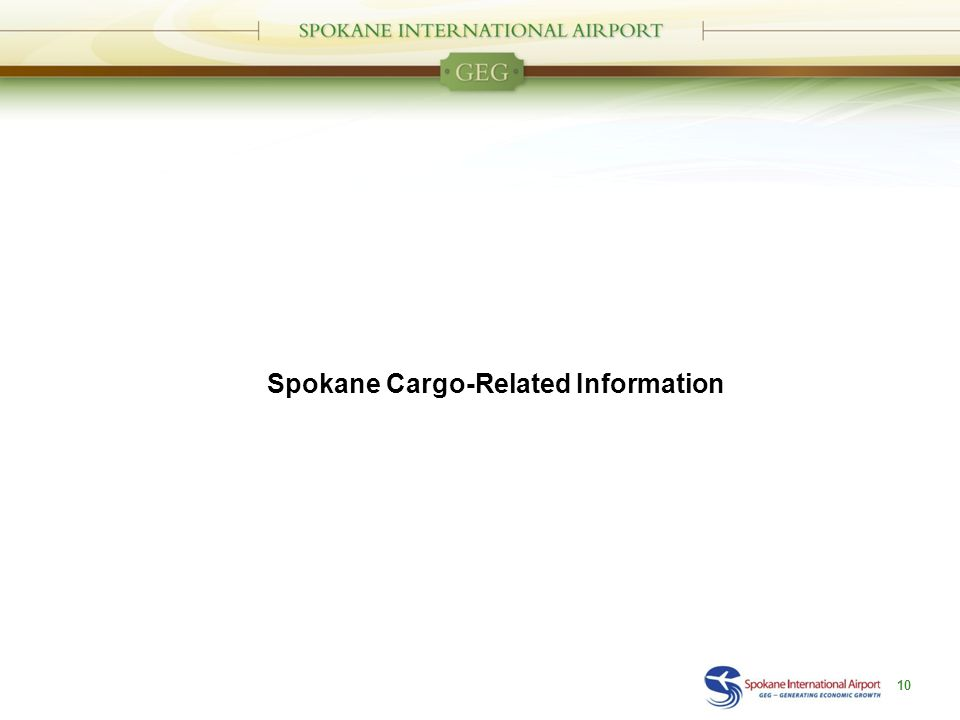 Spokane Cargo-Related Information 10