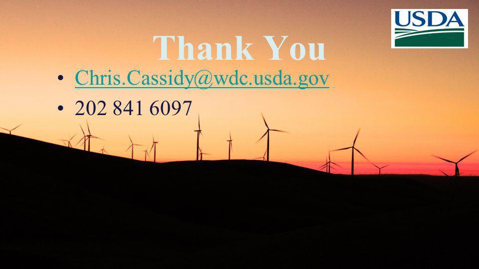 Thank You Chris.Cassidy@wdc.usda.gov 202 841 6097