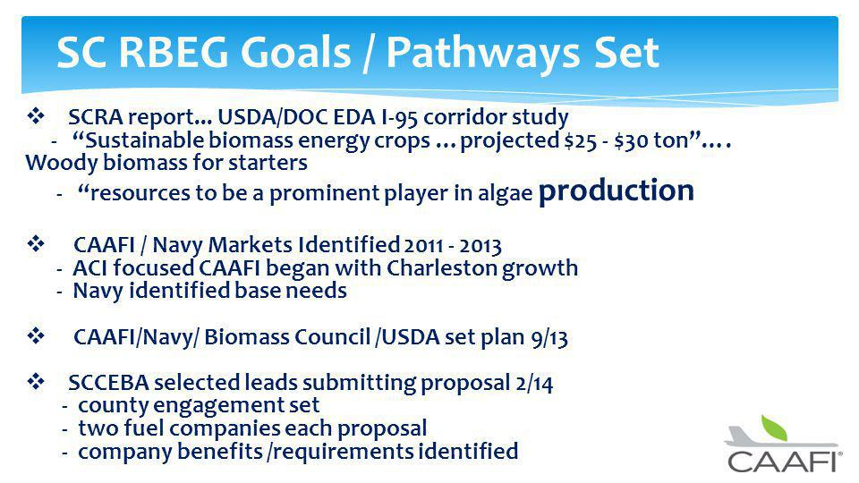 SC RBEG Goals / Pathways Set SCRA report...