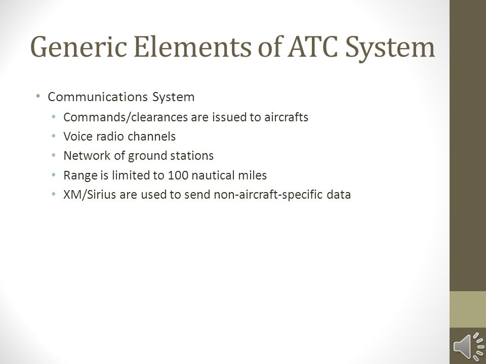 Generic Elements of ATC System