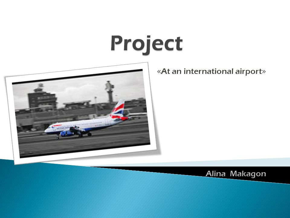 « At an international airport » Alina Makagon