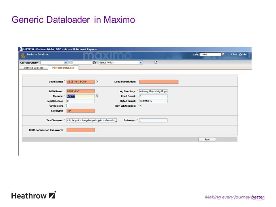 Generic Dataloader in Maximo