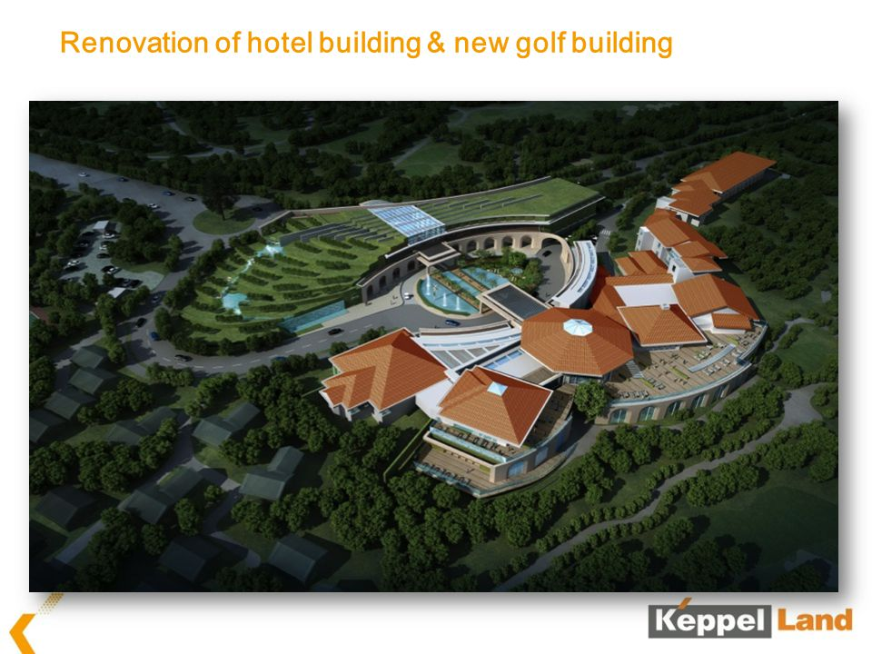 Renovation of hotel building & new golf building
