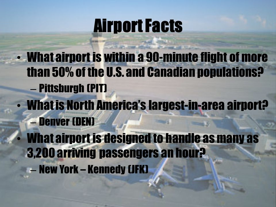 Airport Information Airways are numbered just like highways on the ground.
