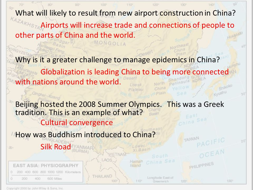What will likely to result from new airport construction in China? Airports will increase trade and connections of people to other parts of China and