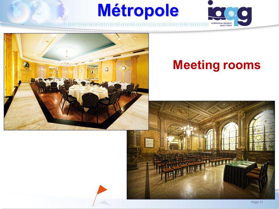 Meeting rooms Métropole Page 11