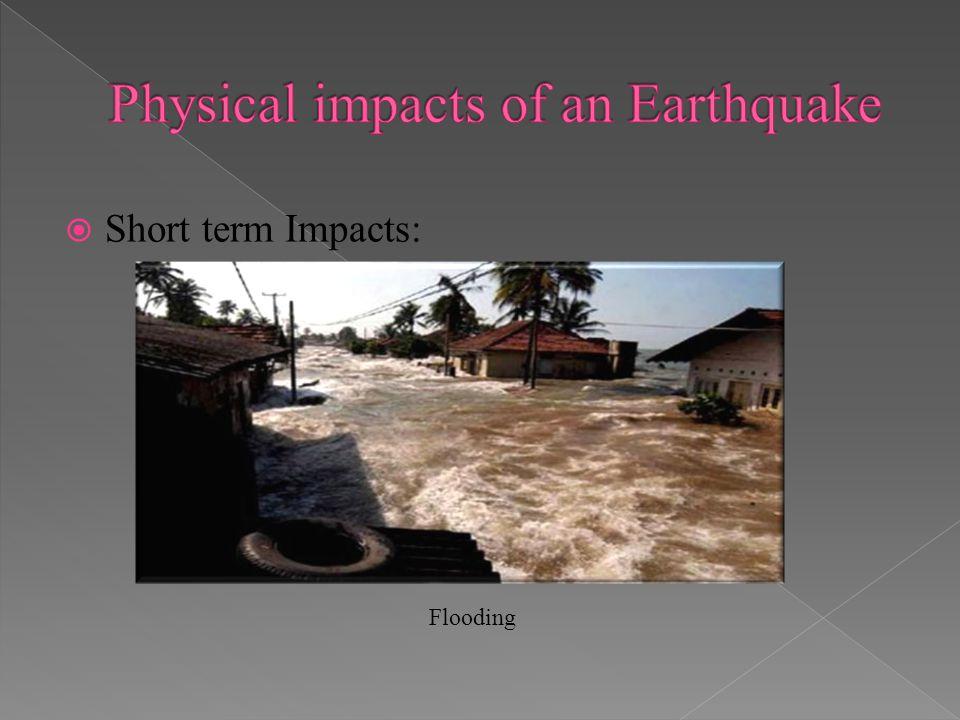 Short term Impacts: Flooding