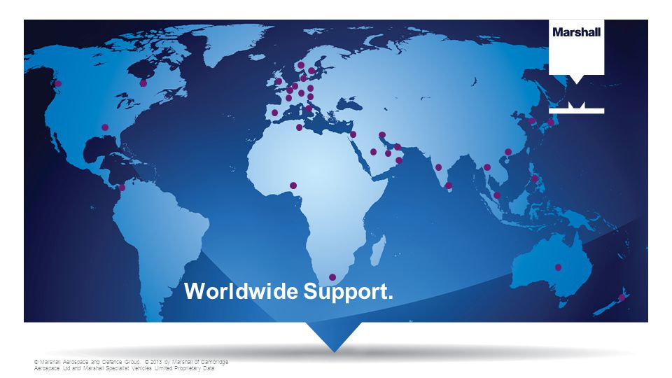 Worldwide Support.