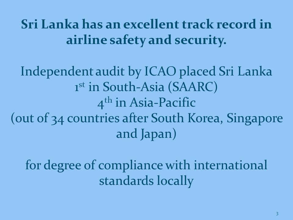 4 Sri Lanka is already on its way towards becoming a Hub We passed the 50,000 aircraft movements per annum mark for the first time in 2013 Passenger movements increased to 7.3 million in 2013 Air cargo handling increased by 9% in 2013