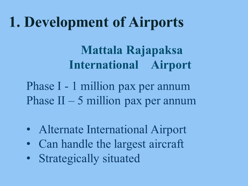 8 Bandaranaike International Airport Current capacity 6 Mn.