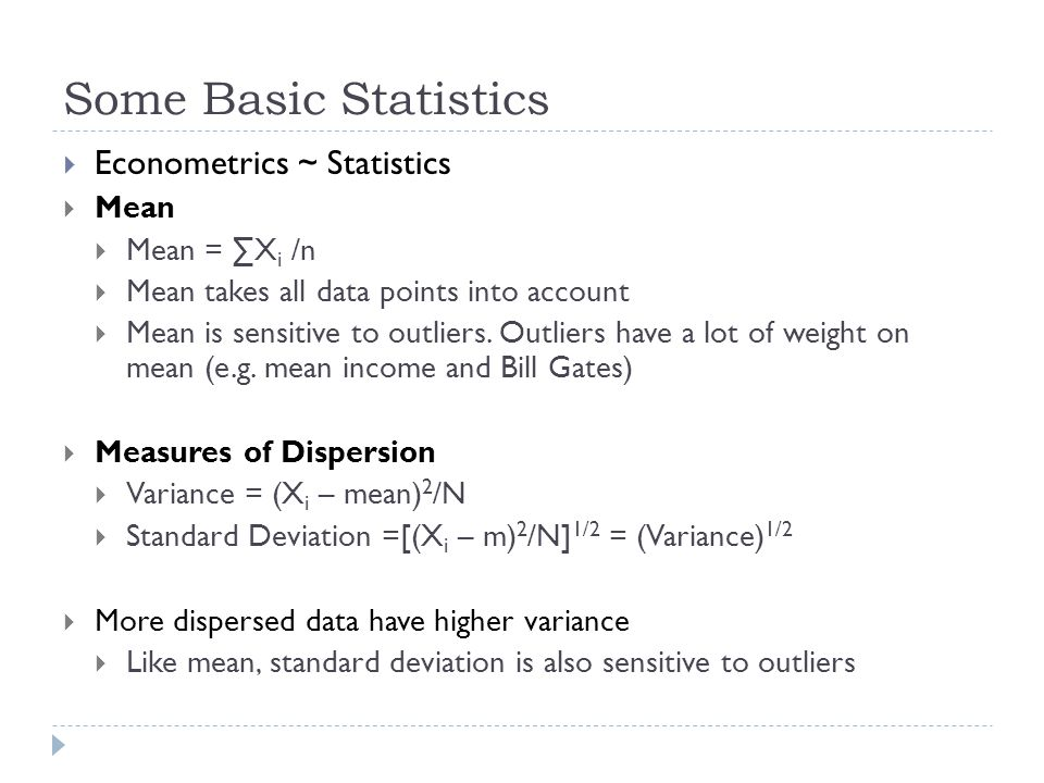 Data sets can vary in their means and distributions…