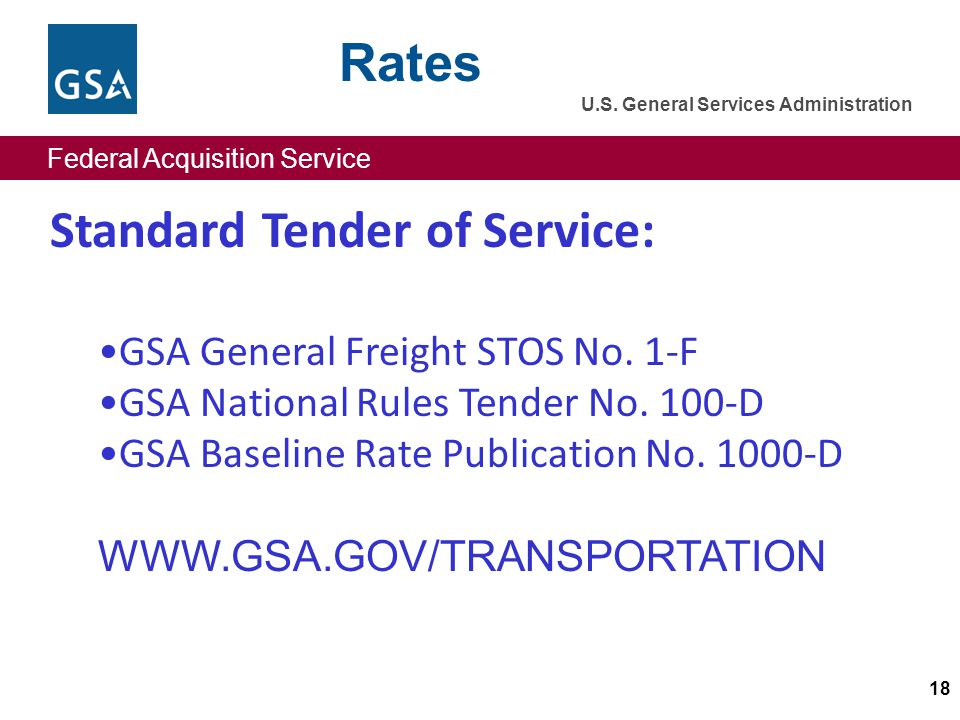 Federal Acquisition Service U.S.General Services Administration Federal Acquisition Service U.S.