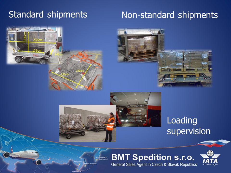 Standard shipments Non-standard shipments Loading supervision