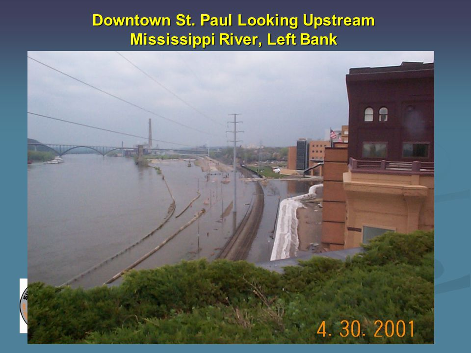 Downtown St. Paul Looking Upstream Mississippi River, Left Bank