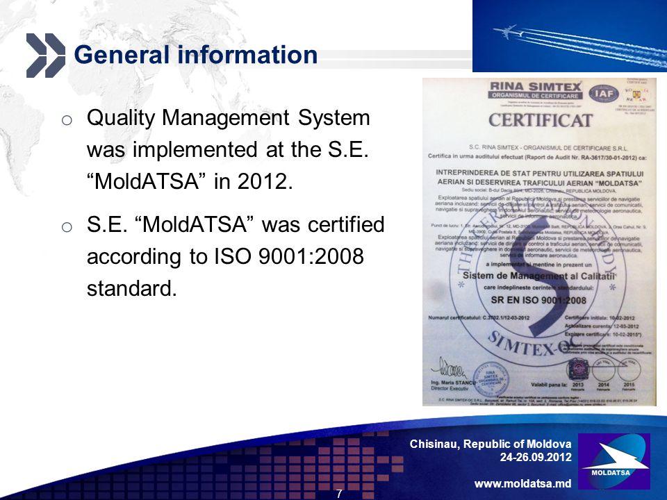 Add your company slogan LOGO Chisinau, Republic of Moldova 24-26.09.2012 www.moldatsa.md General information o Main functions and tasks S.