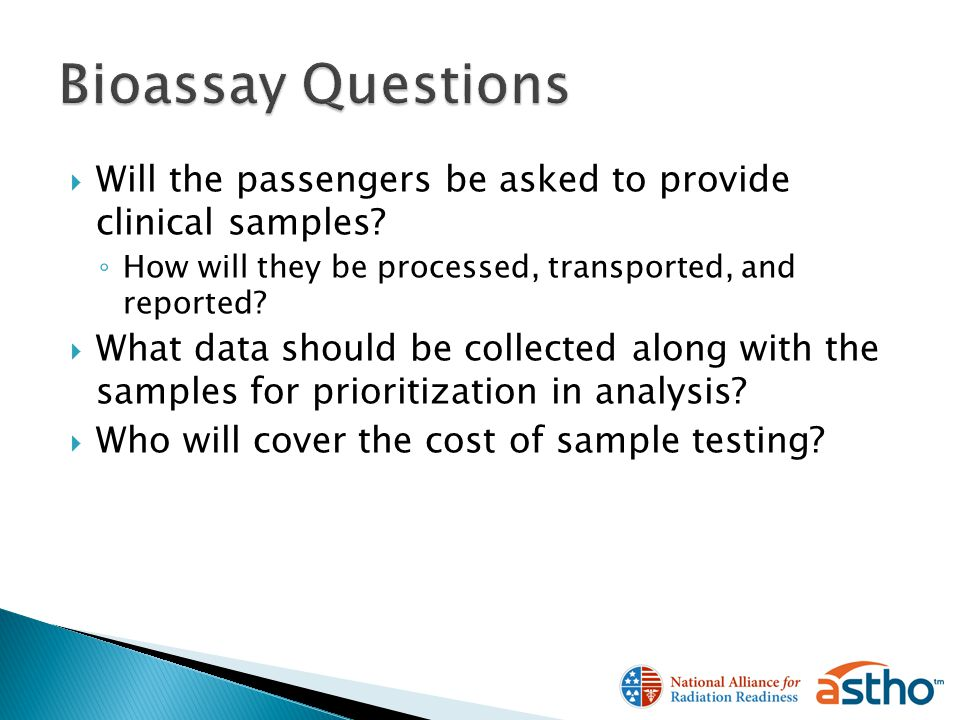Will the passengers be asked to provide clinical samples.