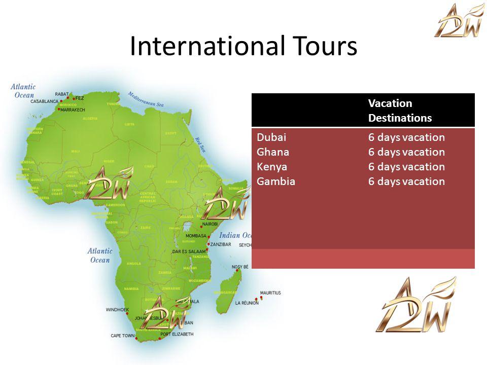 Vacation Destinations Dubai Ghana Kenya Gambia 6 days vacation International Tours