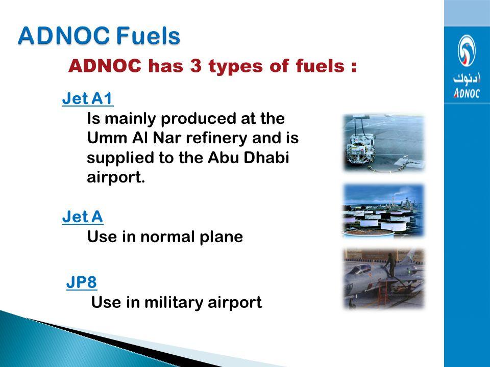 1- ADNOC Fuels 2- ADNOC Airports 3- ADNOC Gas