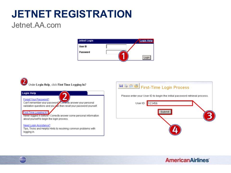 www.jetnet.aa.com JETNET REGISTRATION Jetnet.AA.com