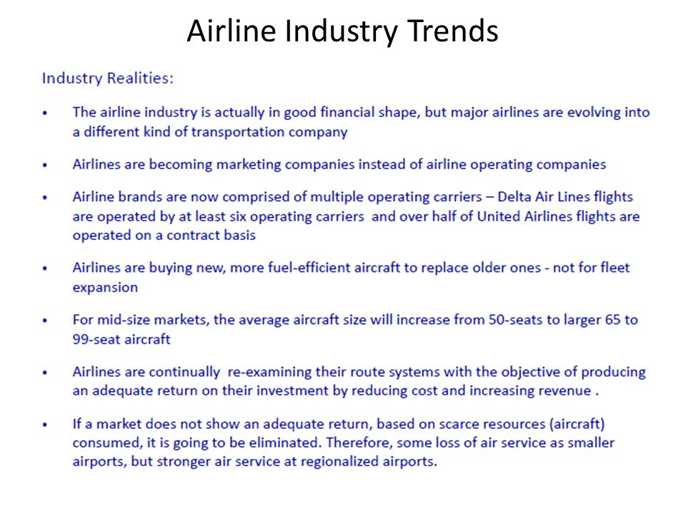 Airline Industry Trends