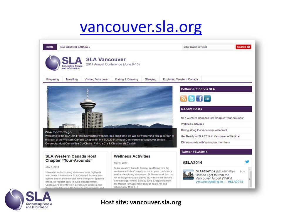 vancouver.sla.org Host site: vancouver.sla.org