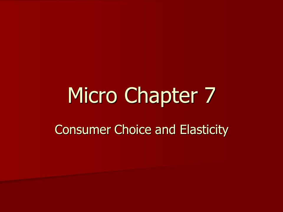 This chapter is an extension of the first part of Chapter 3 on demand and consumer theory Refer back to your Chapter 3 notes and mentally combine them with Chapter 7 notes