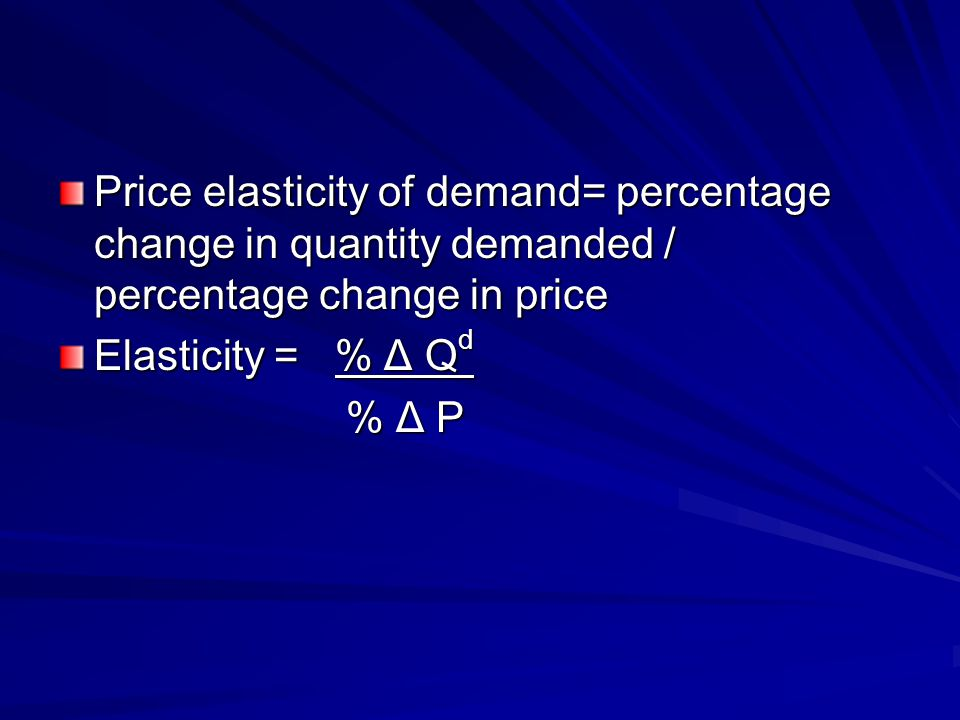 Price elasticity of supply measures the responsiveness of quantity supplied to price changes How much does quantity supplied increase (or decrease) when price rises (or falls)?