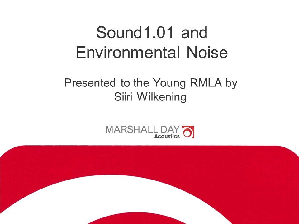 2 On the menu Sound 1.01 NZ NoiseStandards Road Traffic Noise Construction Noise