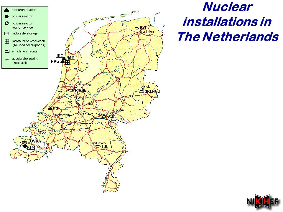 Najaar Nuclear installations in The Netherlands