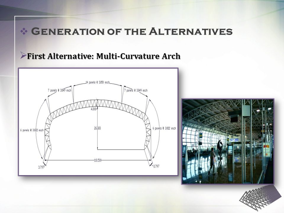 First Alternative: Multi-Curvature Arch Generation of the Alternatives