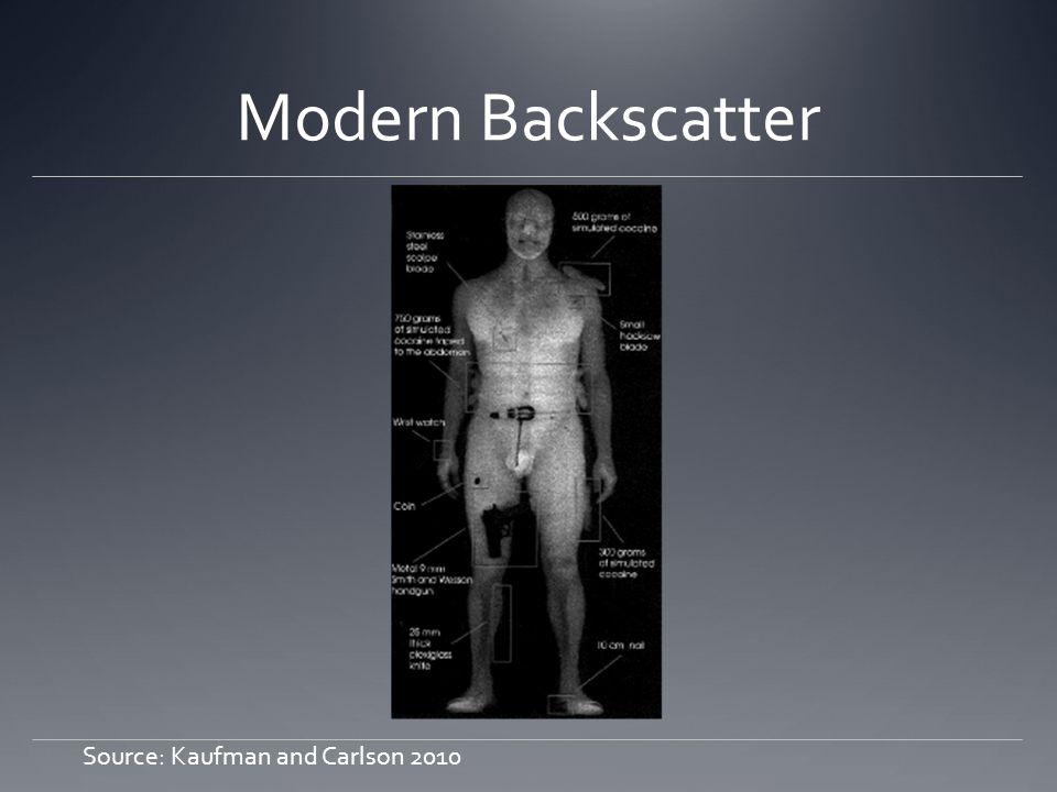 Modern Backscatter Source: Kaufman and Carlson 2010