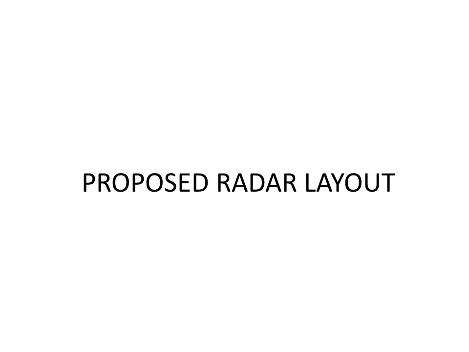 PROPOSED RADAR LAYOUT