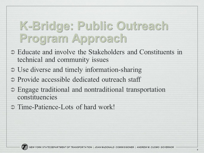 NEW YORK STATE DEPARTMENT OF TRANSPORTATION | JOAN McDONALD COMMISSIONER | ANDREW M.