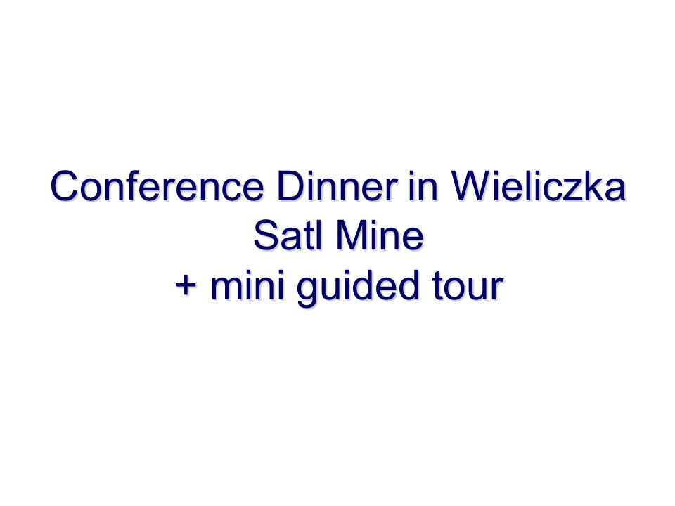 Conference Dinner in Wieliczka Satl Mine + mini guided tour