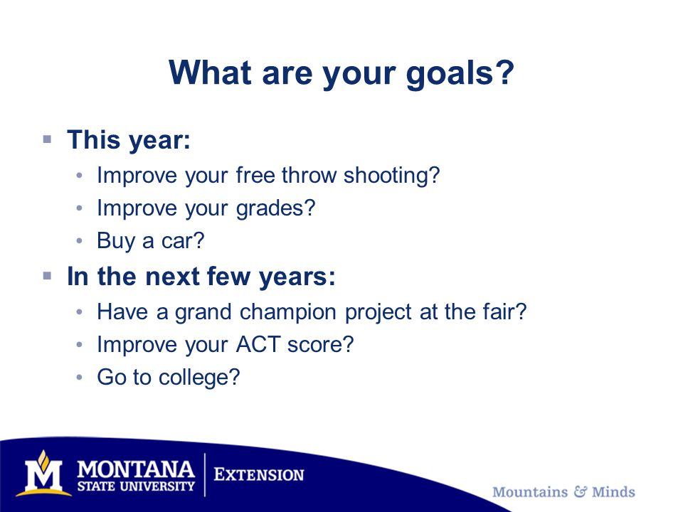 What are your goals. This year: Improve your free throw shooting.