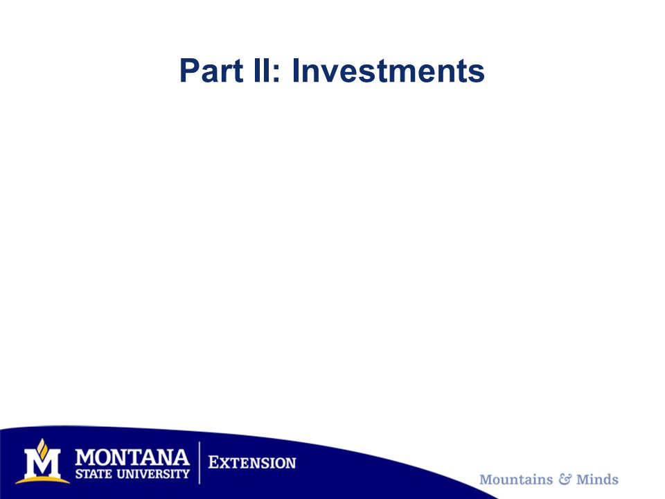 Part II: Investments