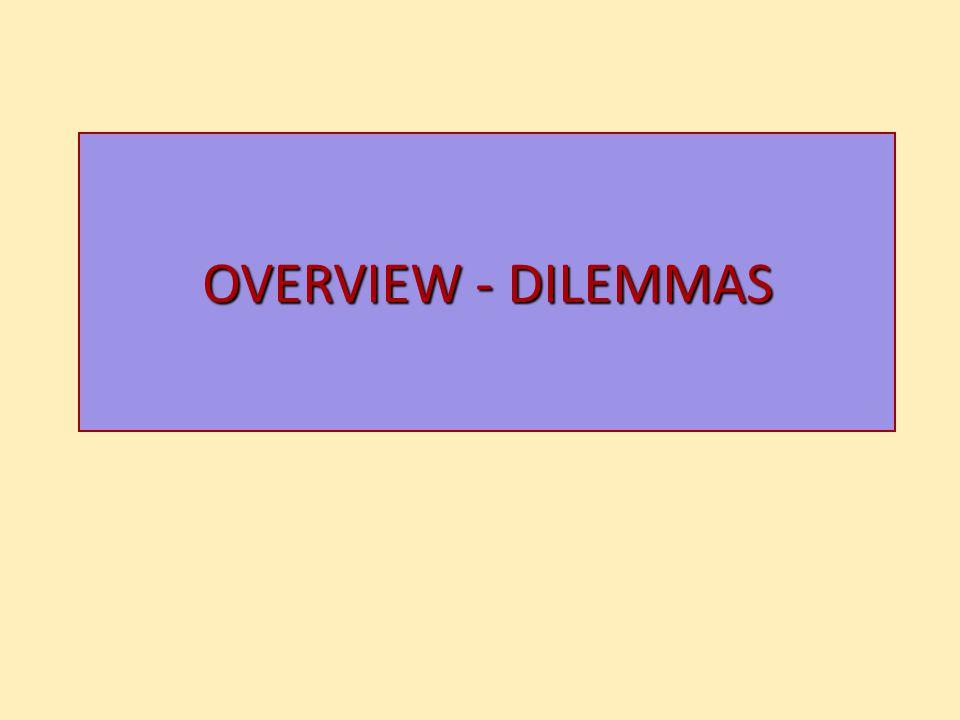 OVERVIEW - DILEMMAS