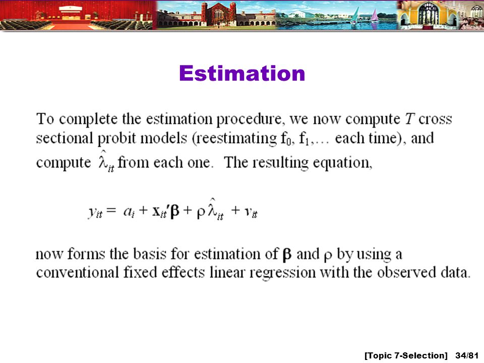 [Topic 7-Selection] 34/81 Estimation