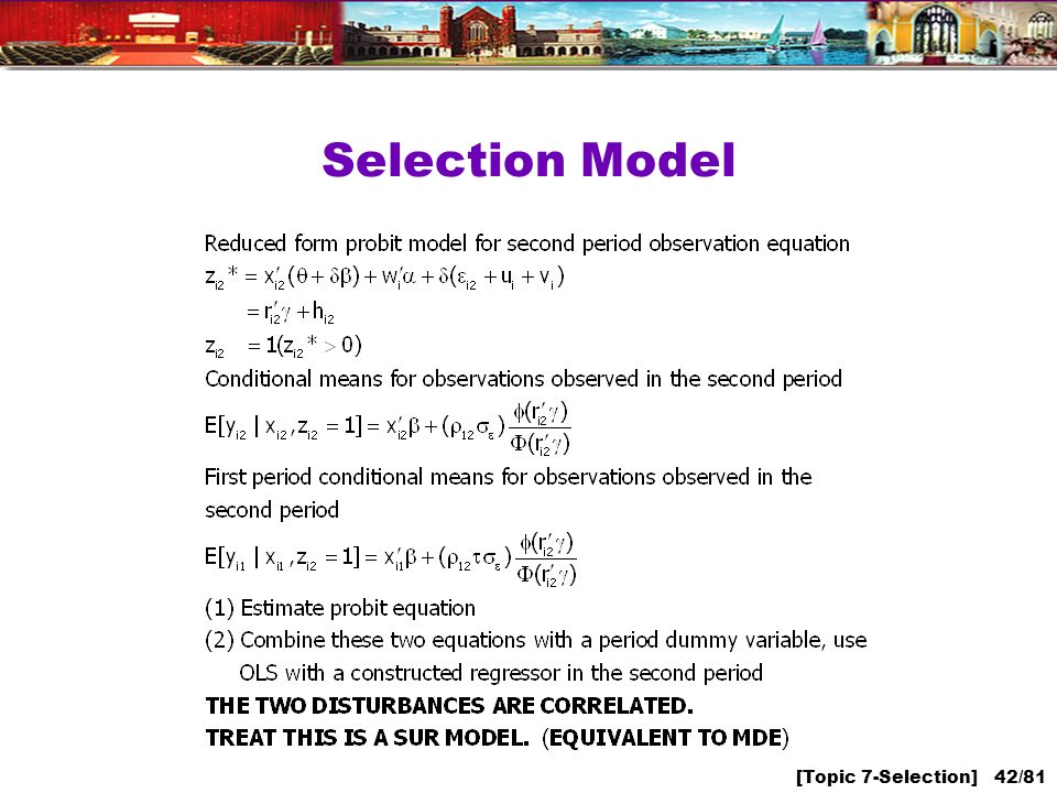 [Topic 7-Selection] 42/81 Selection Model