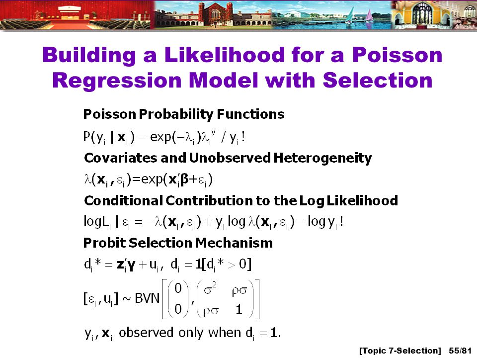 [Topic 7-Selection] 55/81 Building a Likelihood for a Poisson Regression Model with Selection